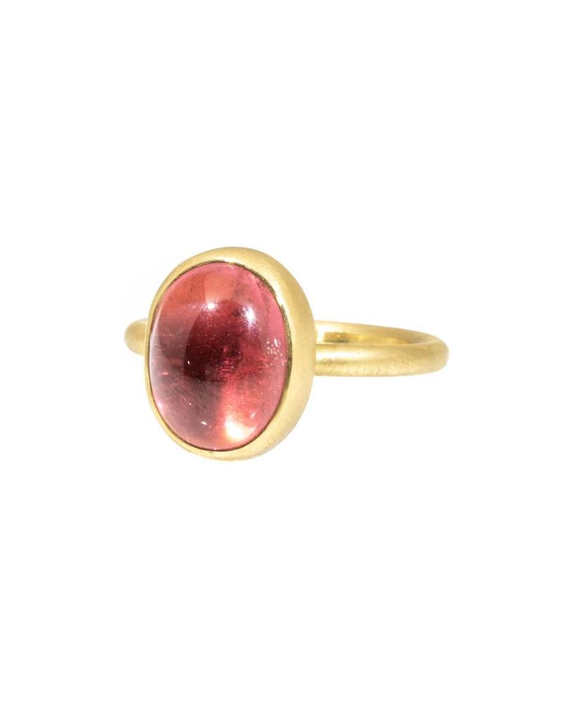 Pink Tourmaline Ring in 18k Yellow Gold