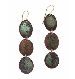 Corrosion Enamel Oval Earrings