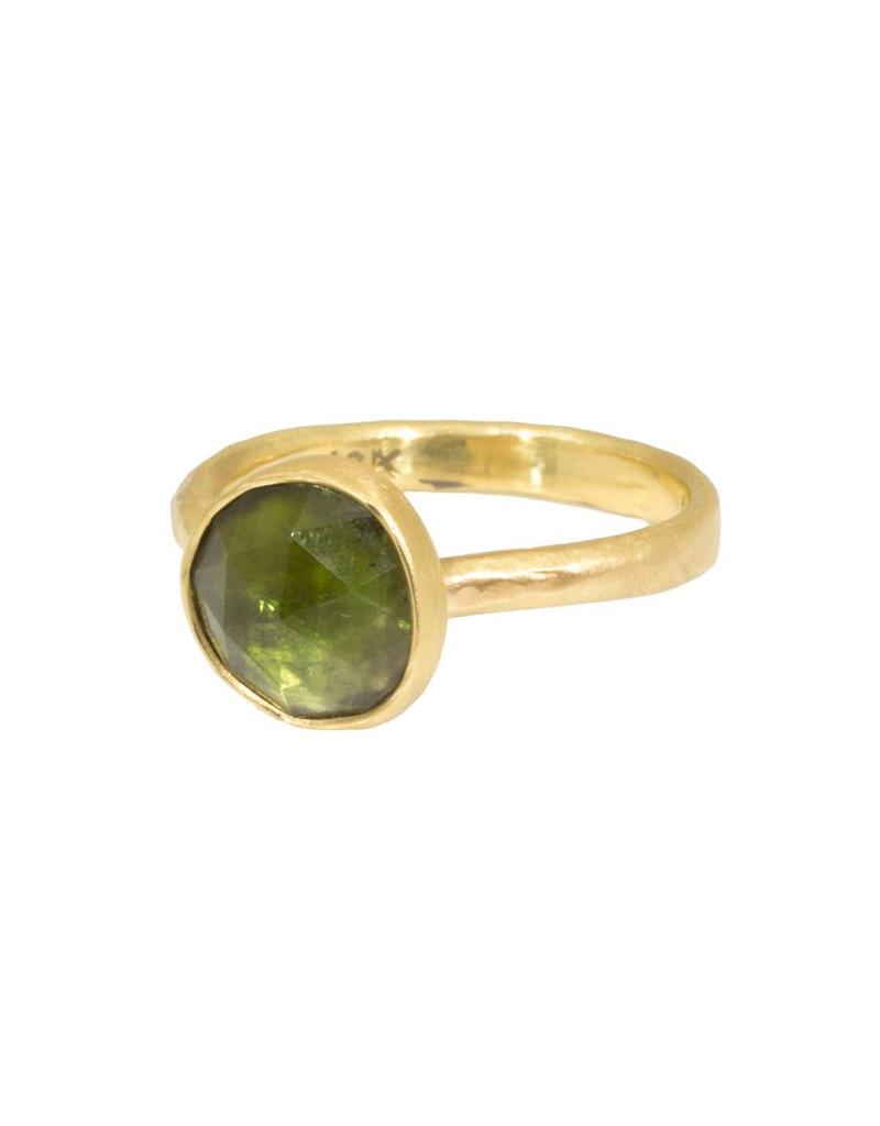 Organic Green Tourmaline Ring in 18k Yellow Gold