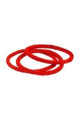 Red/Orange Glass Bead Bangle