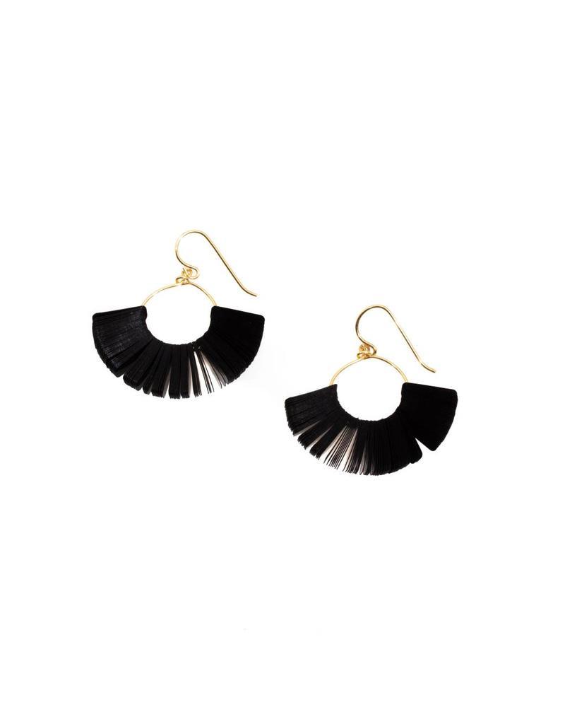 Cuervo Black Sequin Hoop Earrings