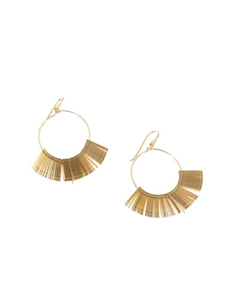 Golden Arch Hoop Earrings