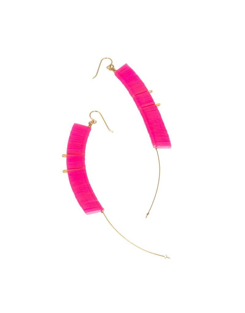 Delight Drop Earrings in Pink