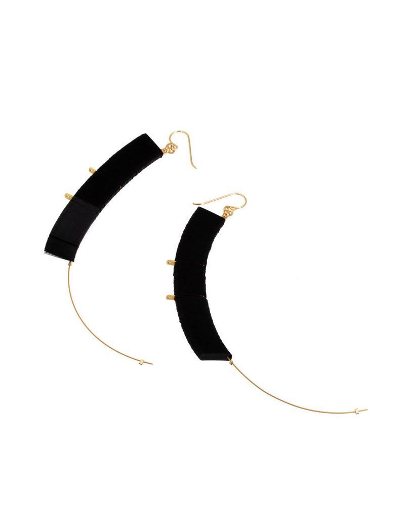 Cuervo Black Sequin Drop Earrings