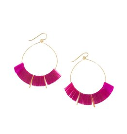 Delirium Hoop Earrings in Magenta