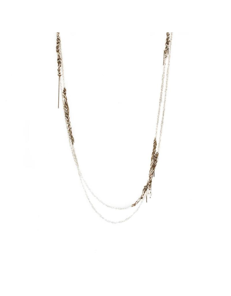 Melded Simple Necklace in 18K Gold Vermeil and Silver