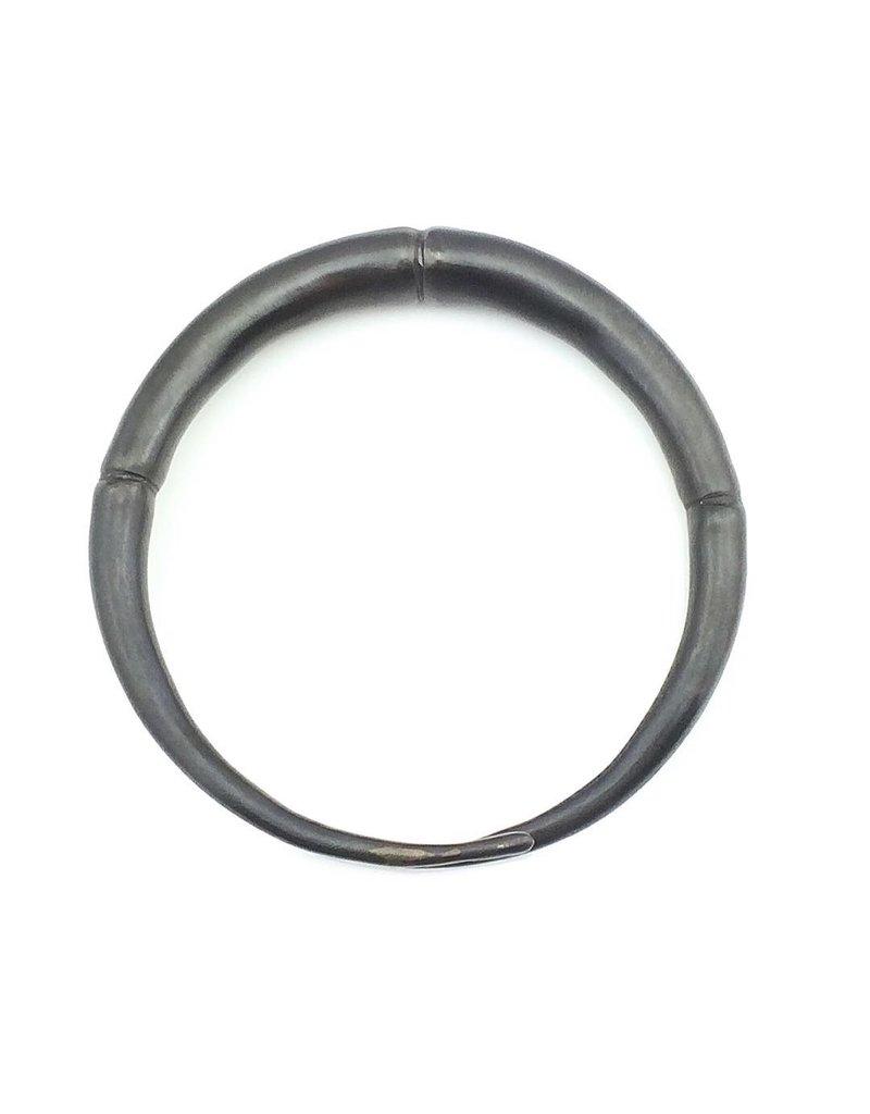 Kai Wolter Single Black Double Tapered Bracelet in Dark Bronze