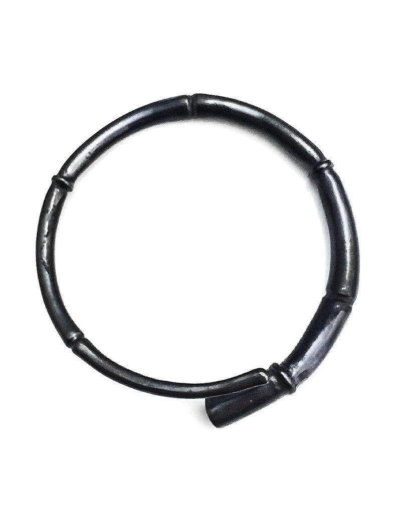 Kai Wolter Single Black Tendril Bangle Bracelet in Dark Bronze