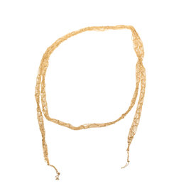 Narrow Scarf Necklace in 18k Yellow Gold