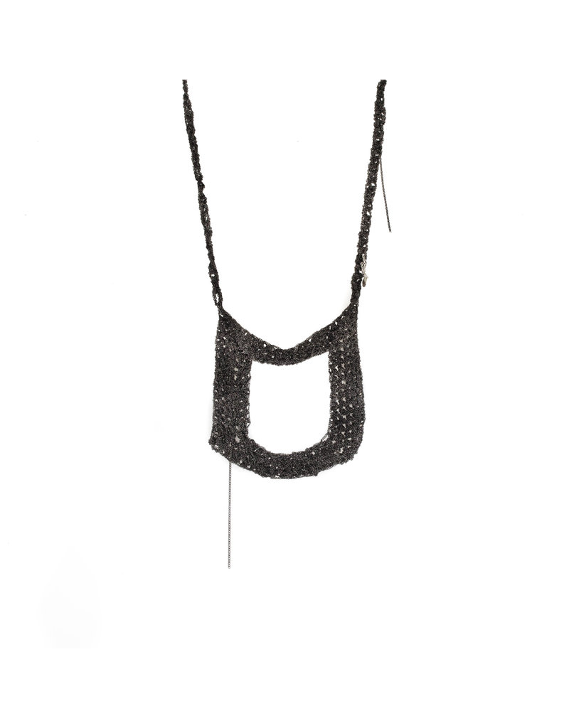 Square Necklace in Ionized Stainless Steel