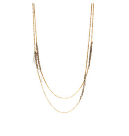 Melded Simple Necklace in 18k Gold Vermeil and Oxidized Silver