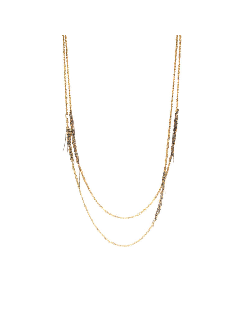 ??? Melded Simple Necklace in 18k Gold Vermeil and Oxidized Silver