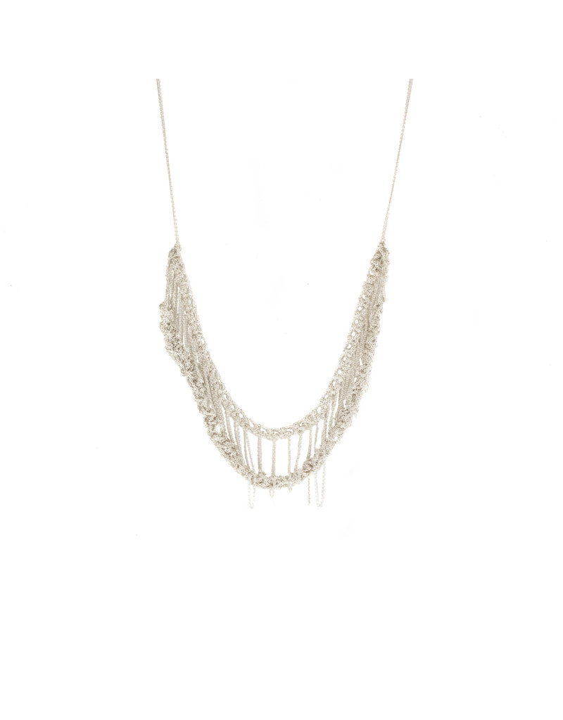 Slink Necklace in Bright Silver