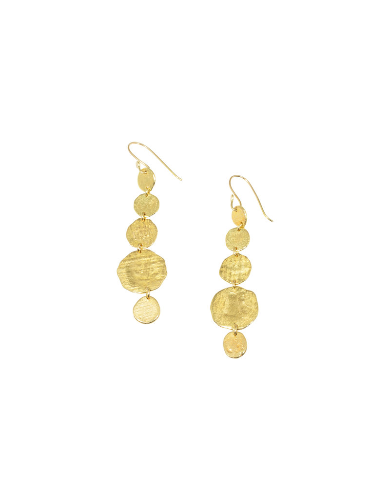 Recycled Gold Disc Earrings in 18k Yellow Gold