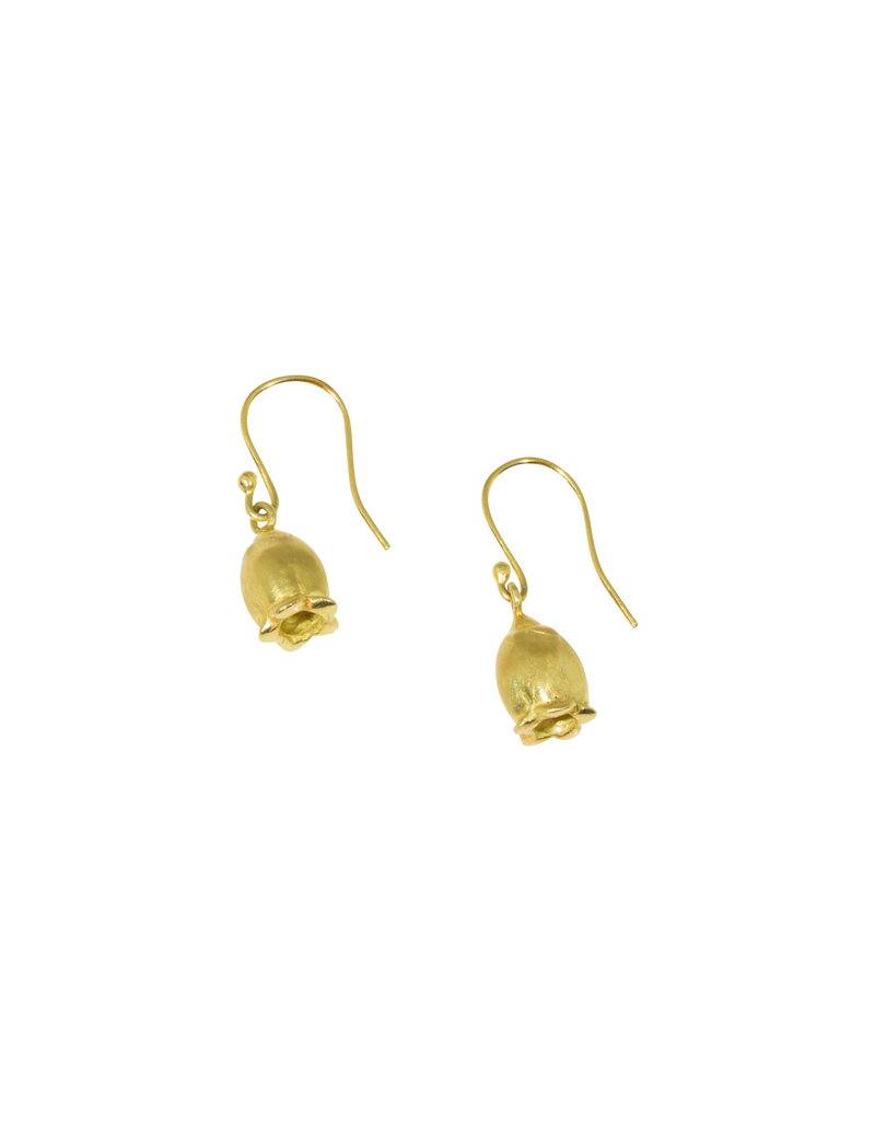 Blueberry Blossom Earrings in 18k Yellow Gold