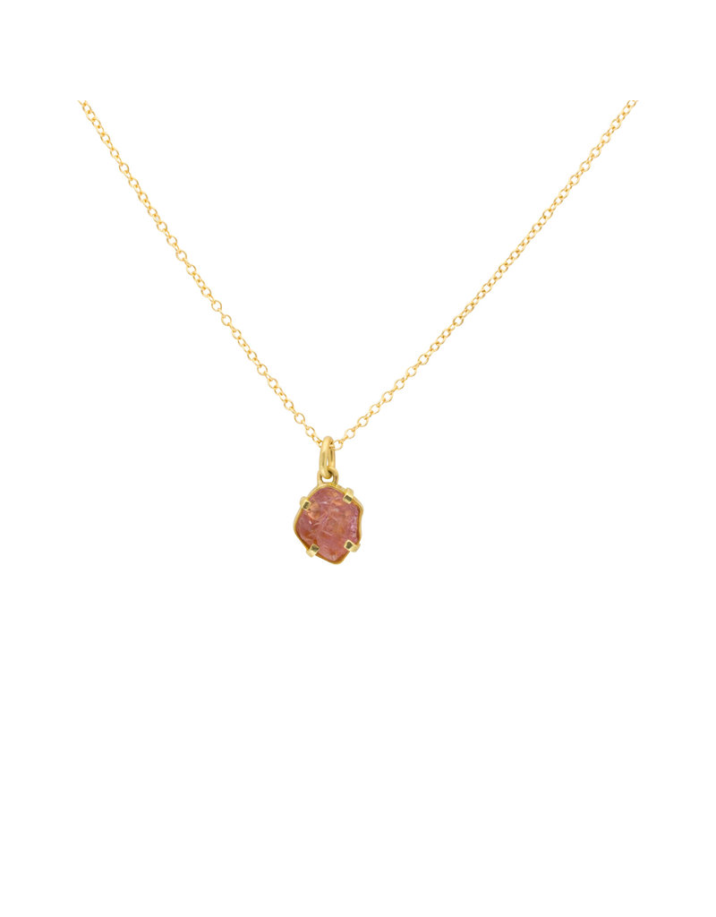 Mew Chiu Pink Spinel Pendant in 18k & 22k Yellow Gold