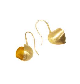 Open Pod Earrings in 20k & 22k Gold