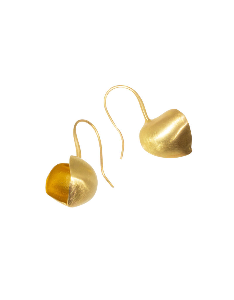 Mew Chiu Open Pod Earrings in 20k & 22k Gold
