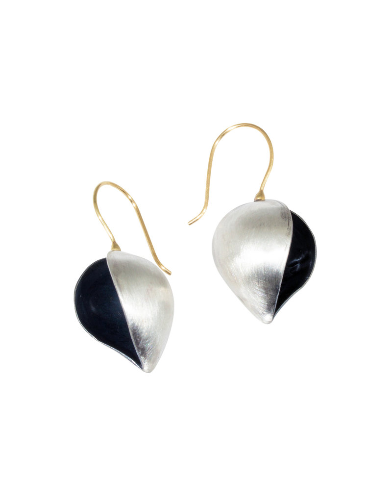 Mew Chiu Open Pod Earrings in Silver