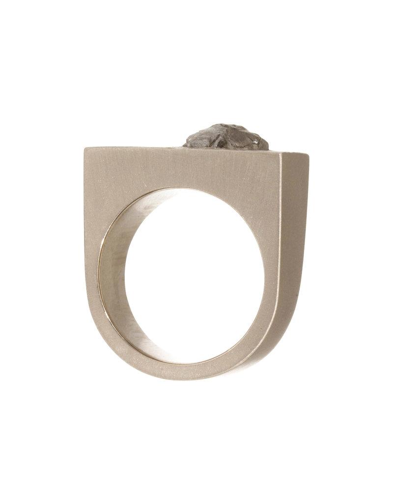 CUSTOM Diamond Crystal Ring in 18k Palladium White Gold