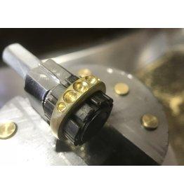 CUSTOM Five Diamond Halo Ring in 18k Yellow Gold