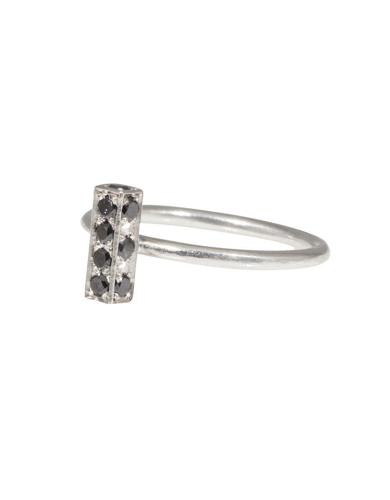Sam Woehrmann Black Diamond Bar Ring in Silver