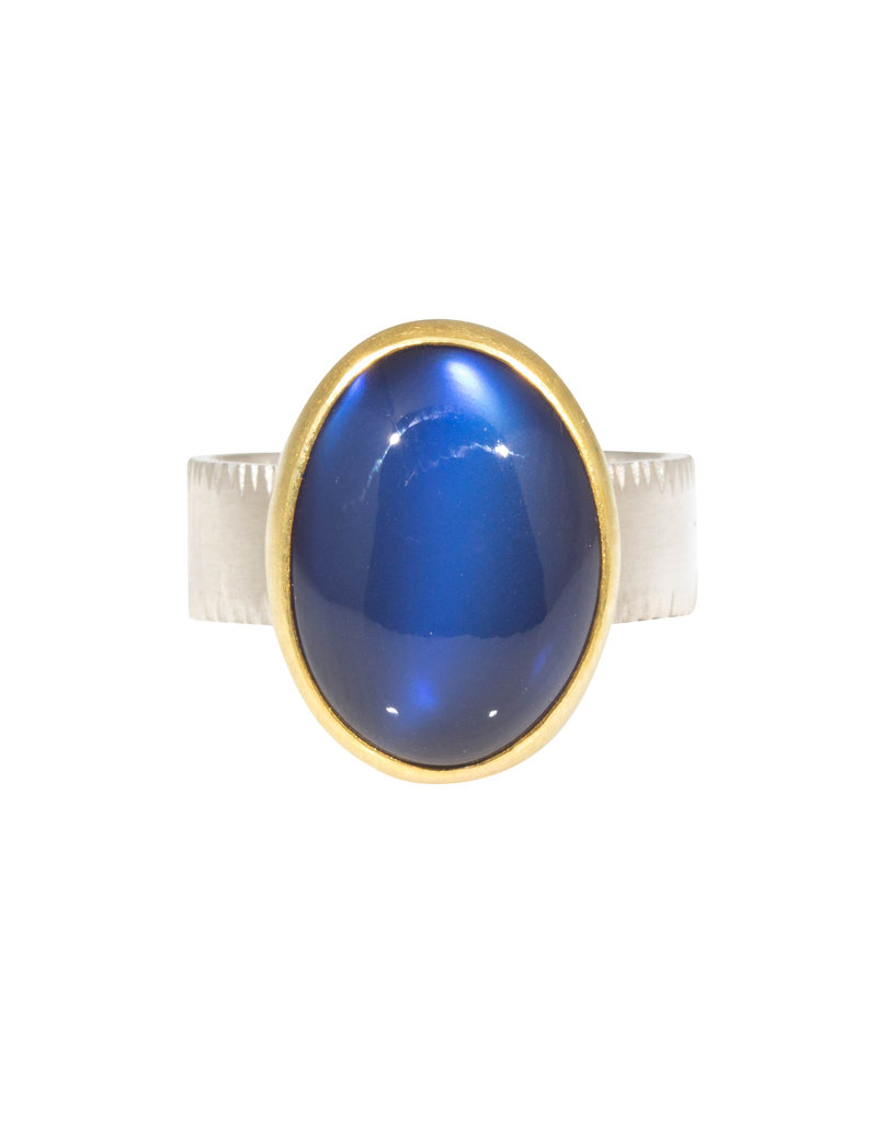 Sam Woehrmann Oval Moonstone Ring in Silver & 22k Gold