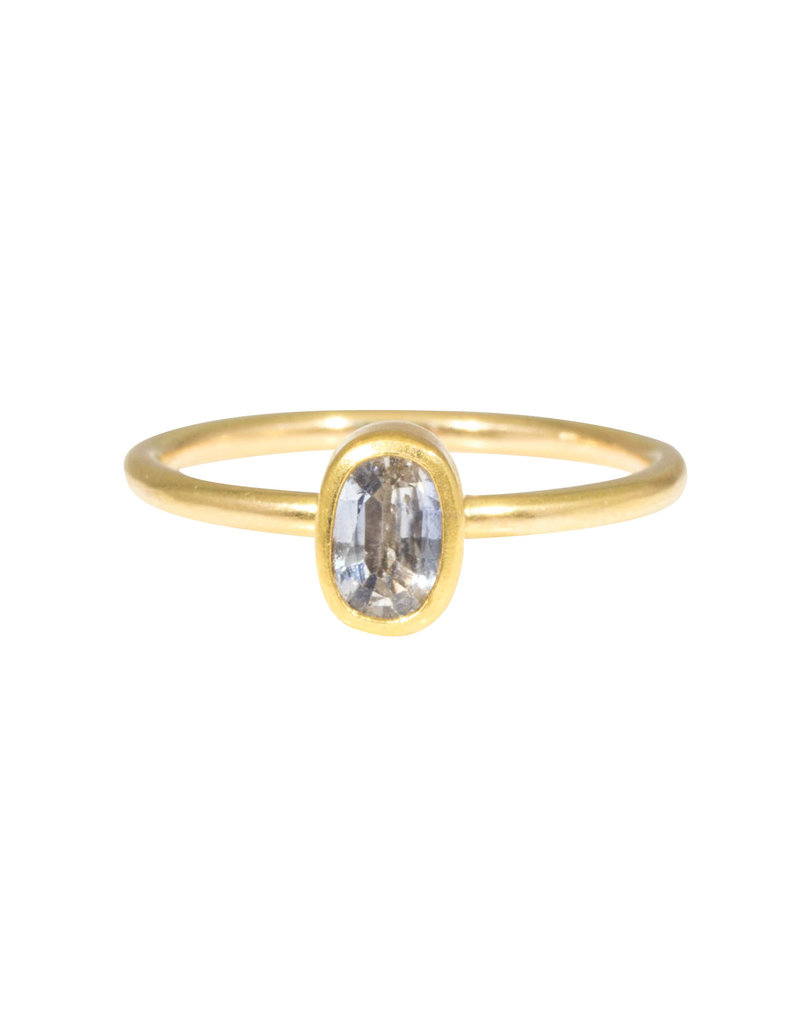 Sam Woehrmann Oval Sapphire Ring in 18k & 22k Yellow Gold