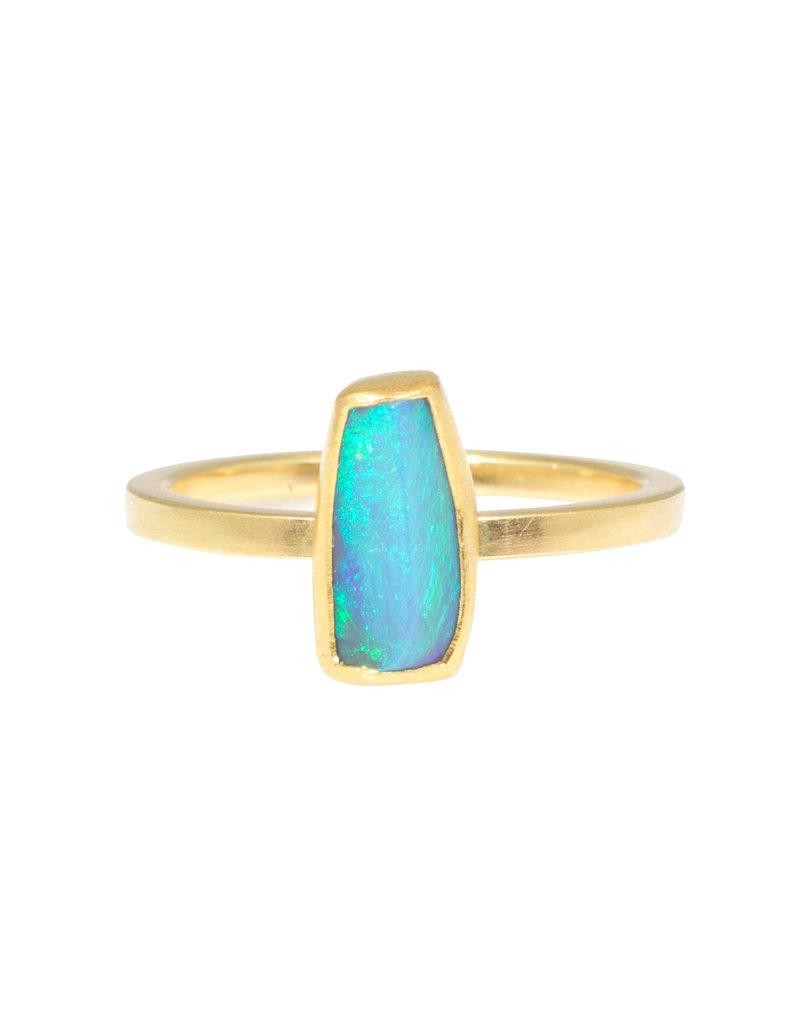 Sam Woehrmann Black Opal Ring in 18k & 22k Yellow Gold
