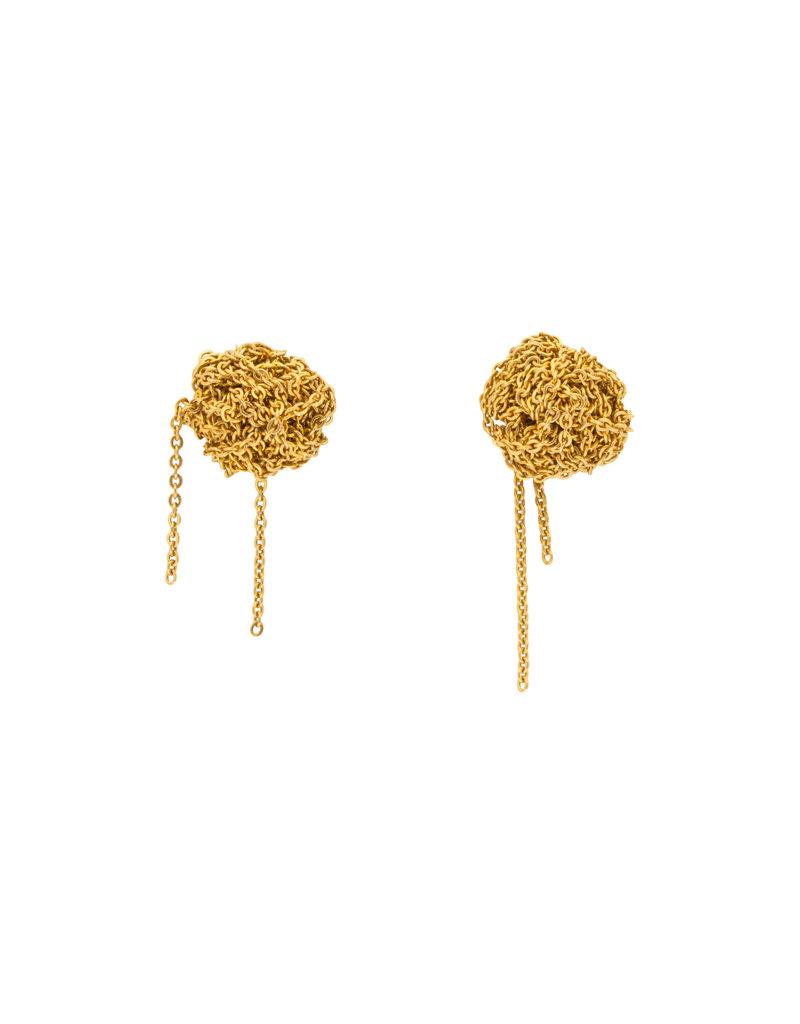 Bead Earrings in 18k Gold Vermeil