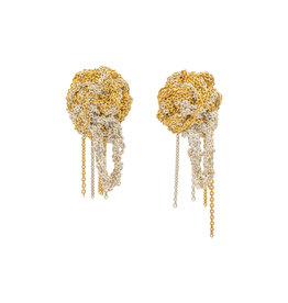 Fleuret Earrings Gold Vermeil and Silver