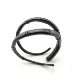 Kai Wolter Double Black Tendril Bangle Bracelet in Dark Bronze