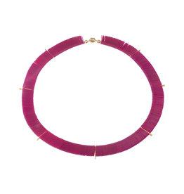 Delirium Orbit Necklace in Magenta
