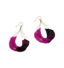 Delirium Twilight Loop Earrings in Pink