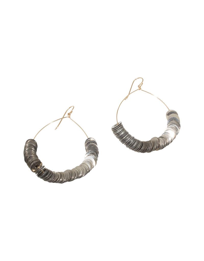 Inner Circle Metal Rings Earrings - Large