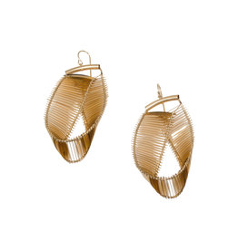 Mobius Earrings in Gold