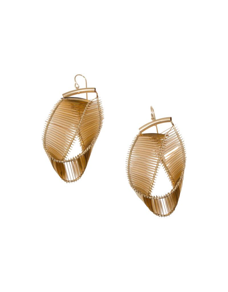 Mobius Earrings in Gold