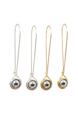 Ball Bearing Drop Earrings in Silver