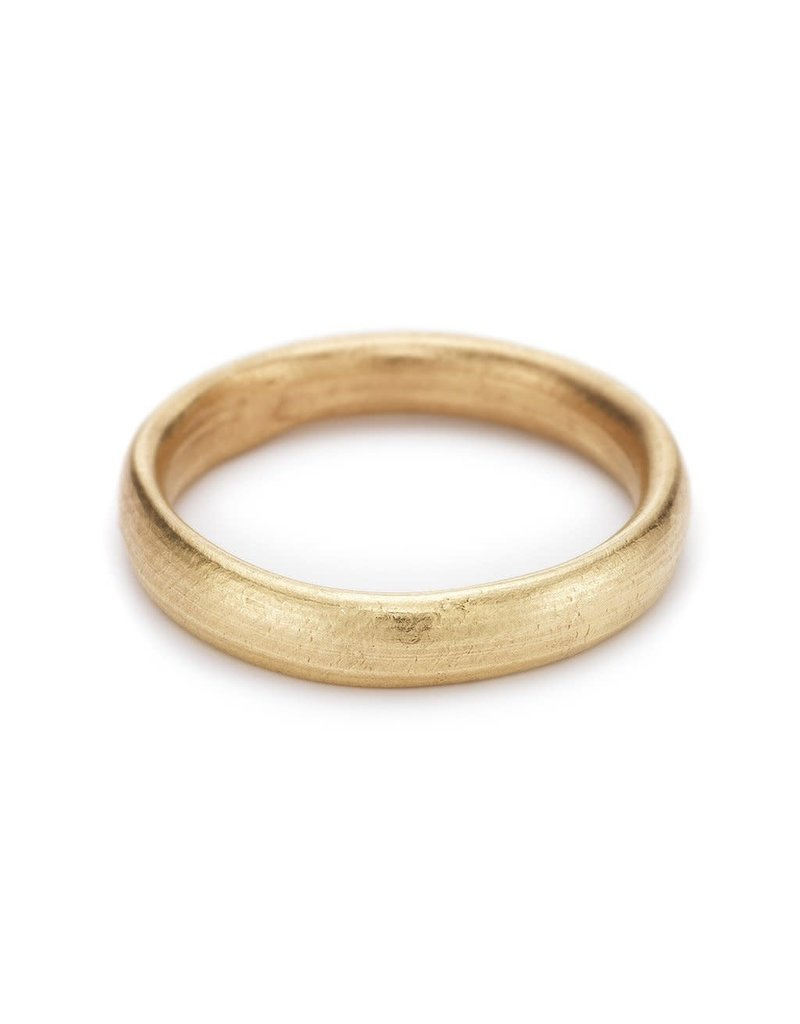 Oval Section 4mm Band in 14k Yellow Gold