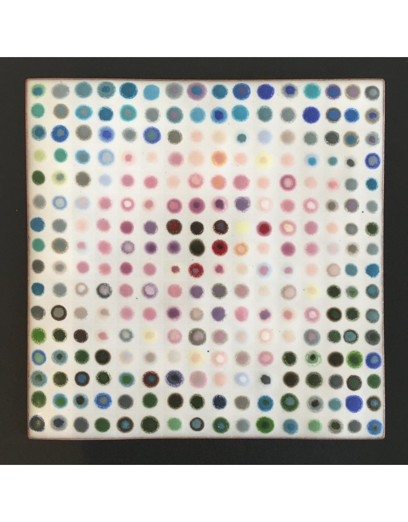 Peony Dots Enamel Mosaic