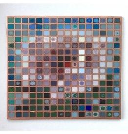 Peony Grid Enamel Mosaic