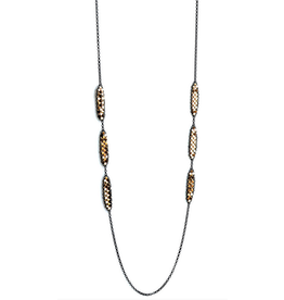 Maral Rapp In Line Petal Necklace with Six Blocks
