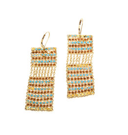 Maral Rapp Stack Tile Rectangle Earrings