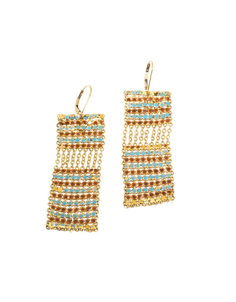 Maral Rapp Stack Tile Rectangle Earrings