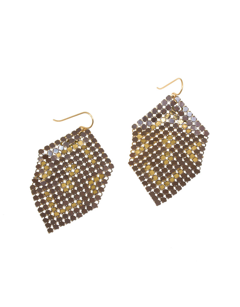 Maral Rapp Ghosted Mesh Earrings - Large