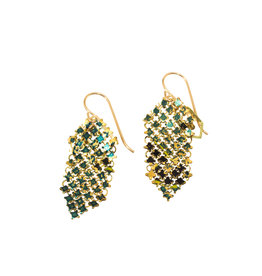 Maral Rapp Small Iridescent Peacock Earrings