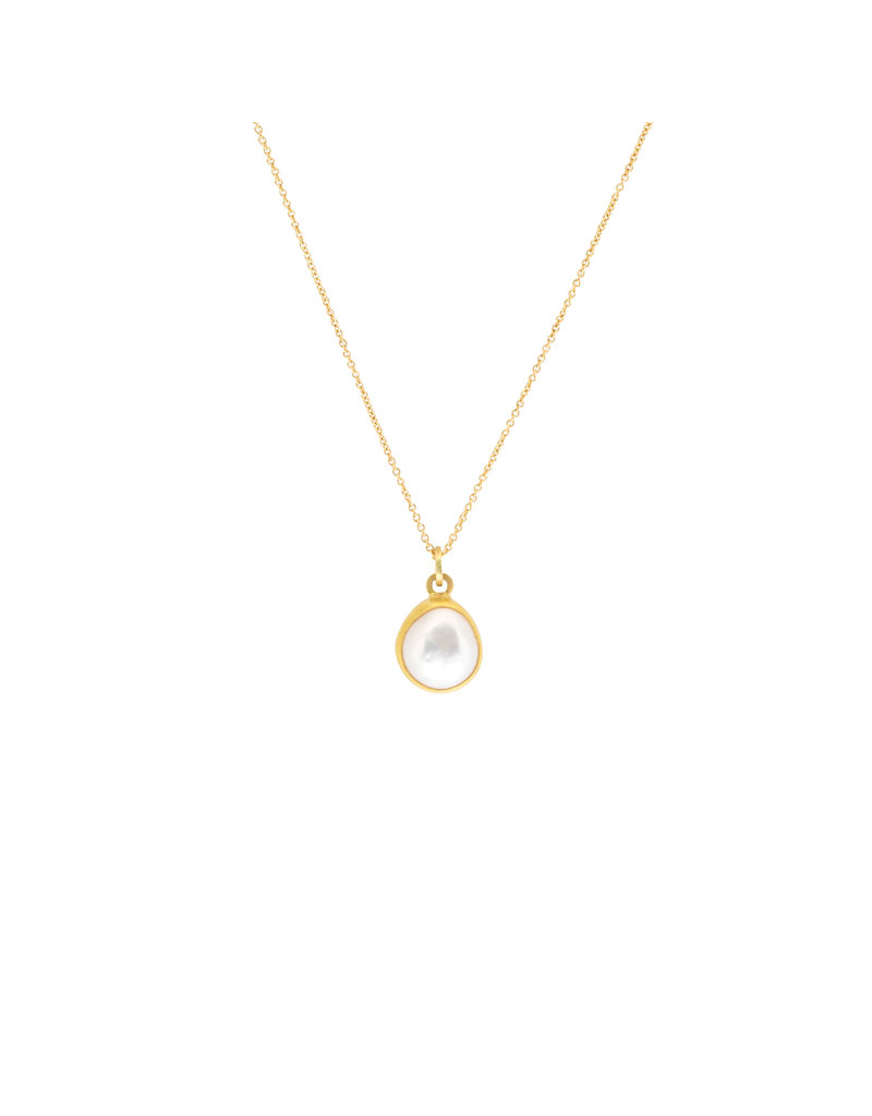 Sam Woehrmann Pearl Pendant in 18k & 22k Yellow Gold