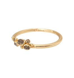Raw Diamond Cluster Ring in 14k Yellow Gold