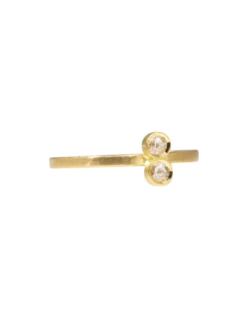 Double Rosecut Diamond Ring in 18k Yellow Gold