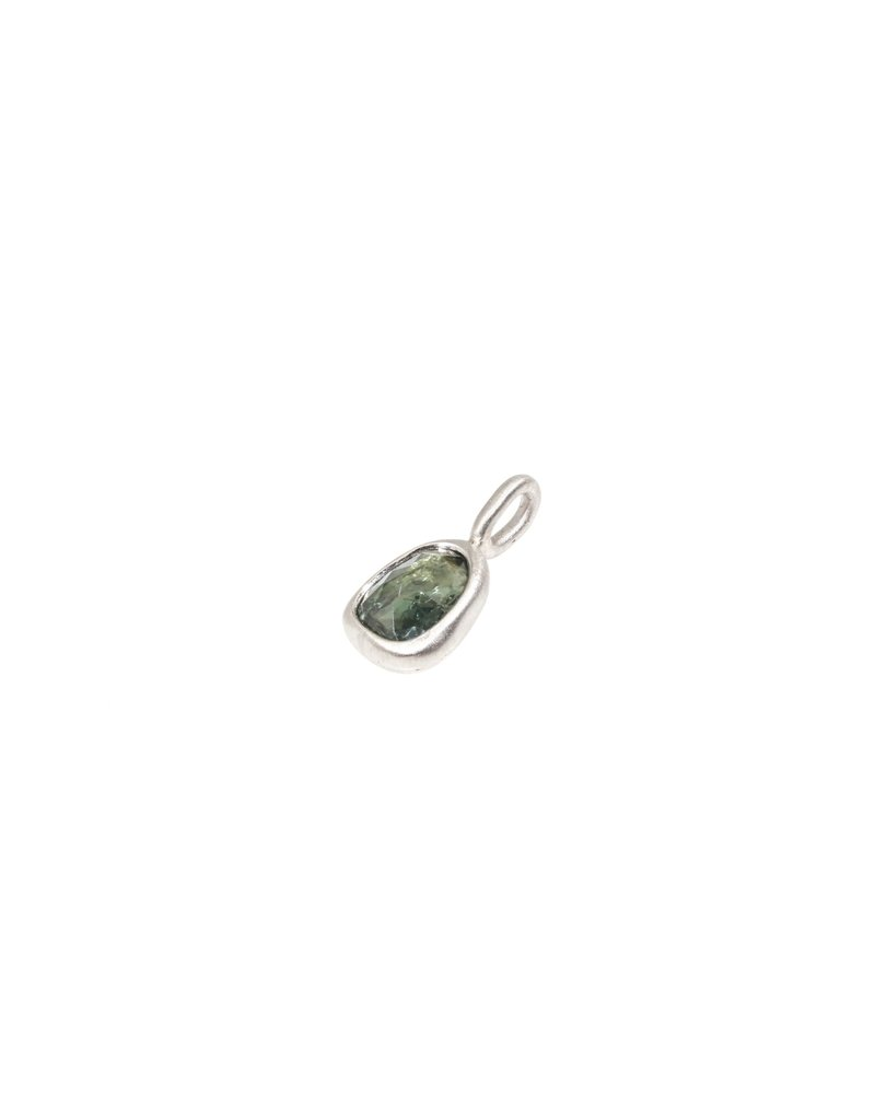Organic Green Sapphire Pendant in Palladium